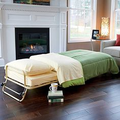 The Ottoman Bed Converts From A Cushioned Foot Rest To Comfortable For An Overnight Guest This Portable Stows Away As During Day