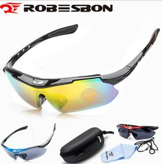US $6.07 ROBESBON Men Women Cycling Eyewear Sunglasses Outdoor Glasses Bicycle Glasses With Box Bicycle Accessories