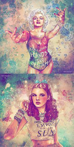 Marilyn + Dorothy // fabian ciraolo