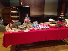 Eagle Scout Court of Honor - Dessert Table - merit badge cookies, Boy Scout insignia chocolates, cupcake flag, and chocolate fountain with fruit