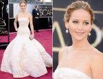 Jennifer Lawrence In Dior, 2013 Oscars