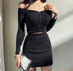 Korean Girl Fashion, Korean Fashion Trends, Ulzzang Fashion, Kpop Fashion, Cute Fashion, Asian Fashion, Edgy Outfits, Cute Casual Outfits, Mode Outfits