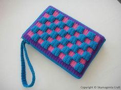 checkered crochet purse pattern
