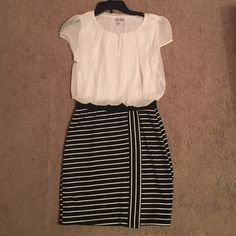 Black and White Striped Dress NWOT and is in excellent condition! It's cheaper on Mercari! Speechless Dresses