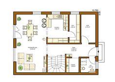 Hausbau ideen grundriss  An der Küche keinen Tresen Wohnfl che Erdgeschoss | Home ...