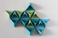How to Make a Triangular Wall Storage System via Brit + Co.