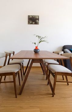 SALE Set Of Four Mid Century Danish Style Dinning by MODOOHome