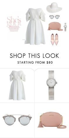 """""""Rose fragrance"""" by denisa-439 ❤ liked on Polyvore featuring Chicwish, Christian Dior, MICHAEL Michael Kors, Dorothy Perkins and classy"""