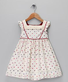 Take a look at this Antique Polka Dot Dress - Infant, Toddler & Girls by Team Chipmunk on #zulily today!