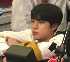 Sleepy and tired Jin Bts Jin, Bts Bangtan Boy, Reaction Pictures, Funny Pictures, Bts Memes, Funny Memes, Ugly Faces, Gucci Models, Quality Memes