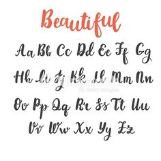 Uppercase and lowercase letters. Hand lettering royalty-free hand draw alphabet uppercase and lowercase letters calligraphy font hand lettering stock vector art & more images of typescript Modern Calligraphy Alphabet, Hand Lettering Alphabet, Calligraphy Handwriting, Brush Lettering, Capital Letters Calligraphy, Fake Calligraphy, Beautiful Handwriting Alphabet, Handwriting Fonts Alphabet, Calligraphy Doodles