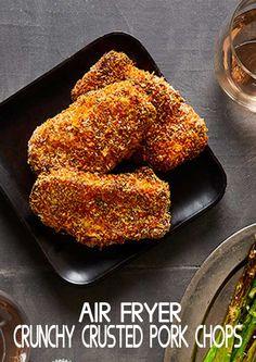 Air Fryer Recipes Pork Chops, Air Fry Pork Chops, Easy Pork Chop Recipes, Air Fry Recipes, Fried Pork Chops, Air Fryer Dinner Recipes, Air Fryer Recipes Easy, Baked Pork, Pork Recipes