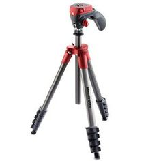 Manfrotto 5-Section Compact Action Aluminum Tripod, Red/Anthracite: Picture 1 regular