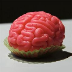 Brain Cupcake. Fantastic for halloween! Must remember this for my party!