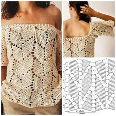 Essa blusa é linda demais - Informationen zu Essa blusa é linda demais Pin Sie können mein Profil ganz einfach verwenden, um - Crochet Slouchy Beanie Pattern, Crochet Poncho Patterns, Crochet Motif, Crochet Designs, Crochet Stitches, Knit Crochet, Crochet Shirt, Crochet Halter Tops, Crochet Cardigan