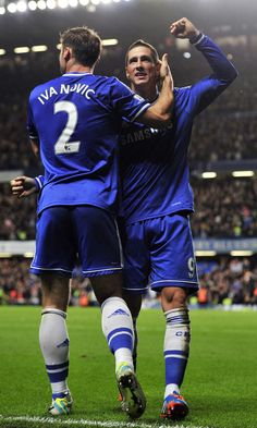 Branislav Ivanovic and Fernando Torres. Chelsea 2-1 Manchester City. Premier League. Sunday, October 27, 2013.