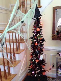 Halloween Tree with ornaments from a dollar store:)