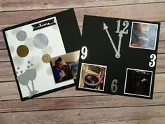 The Stamp Therapists: New Year's Eve Scrapbook Page.  Silver, gold, and black!  Uses all Stampin' Up! stuff!