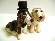 Dog Wedding Cake Topper Custom Made by topofthecake on Etsy