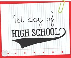 Download this awesome 1st day of High School printable sign! See more party ideas and share yours at CatchMyParty.com #catchmyparty #partyideas #freeprintables #1stdayodschool #free1stdayodschoolprintables
