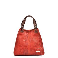 Červená kožená kabelka Luisa Vannini Marcelle
