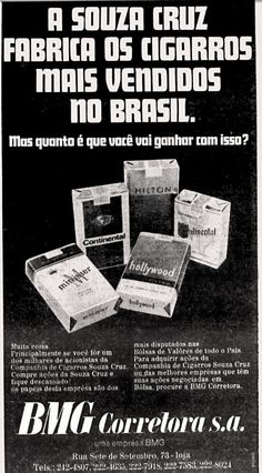 Anúncio corretora BMG - 1970
