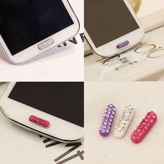 *Diamond* Home Button Sticker For Samsung Galaxy S6 S5 S4 S3 S2 Note 4 3 2 i8260
