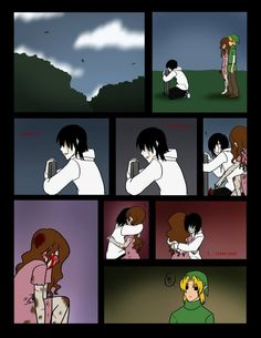 for a comic with creepypasta characters this is really sweet :) ~Me