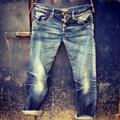 Denim Clothing Company PV Denim trend collection. Indigo sprayed vintage denim: