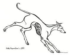 Greyhound tatt...