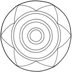 Mandala vorlage fpr kinder symbole und kreise - Mosaik vorlagen zum ausdrucken ...