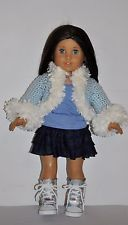DOLL CLOTHES CUSTOM MADE FOR AMERICAN GIRL DOLL  -3 PIECE  - SKIRT SET