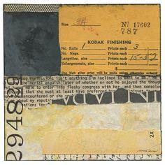 """Double Negative"" #mixedmedia #collage #ephemera #oldpaper #paperart #art"