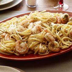 Food Network: Recipe of the Day: Tyler's Shrimp Scampi with Linguine Tyler's rich, lemony pasta dinner . Shrimp Dishes, Shrimp Recipes, Pasta Dishes, Pasta Recipes, Dinner Recipes, Cooking Recipes, Top Recipes, Shrimp Scampi Recipe Food Network, Shellfish Recipes