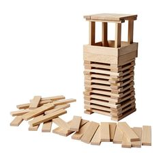 FUNDERA Building blocks IKEA Develops fine motor skills and logical thinking. per 100 Wooden Building Blocks, Wooden Blocks, Ikea, Construction Theme Party, Holiday Fun, Holiday Gifts, Kids Furniture, Kids Toys, Children's Toys