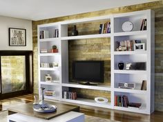 Temahome Denso TV Stand and Shelf Combination - Make a real show of your books, collections and TV with this large display system, 5 finishes to choose from