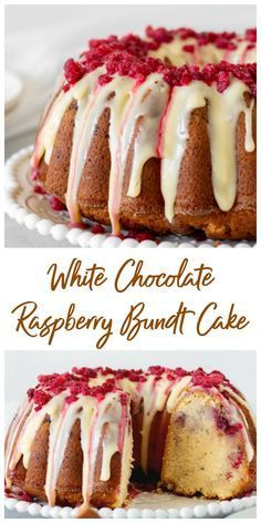 cake recipes Smooth and delicious, this White Chocolate Raspberry Bundt Cake recipe will make you a fan of this combination! The flavors are subtle and deep at the same time, the crumb is dense and tender and the cake lasts for several days. Brownie Desserts, Oreo Dessert, Just Desserts, Delicious Desserts, Delicious Chocolate, Spring Desserts, Pound Cake Recipes, Easy Cake Recipes, Baking Recipes