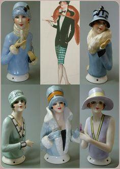 HALF DOLLS: ART DECO FASHION LADIES - HALF DOLLS BY FASOLD & S...
