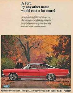 paperink id: Ford Galaxie 500 Red Sleek Black Top 1967 Photo AD This is an ORIGINAL PERIOD Magazine Advertisement measuring approximately x AD is in Very Good Condition very ligh Vintage Advertisements, Vintage Ads, Vintage Photos, Retro Ads, Vintage Dress, Ford Motor Company, Ford 2000, Ford 1967, Detroit