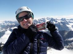 Move over French cheeses of the Alps:   Seriously Sharp helped power me up during this alpine climb to the summit of Roche de la Muzulle 3464m...thanks to Hillary Gerardi for supporting Cabot and Congrats on your climb!