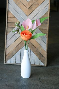 Serious centerpiece inspiration: these crepe paper flowers by Etsy seller…