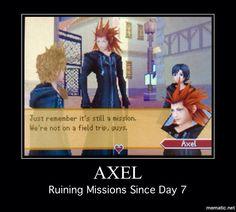 Axel Kingdom Hearts Meme--Haha!!