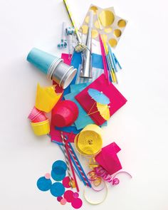 We love turning bargain basics and cheerful party supplies into fun decorations.