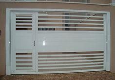 Portões modernos de alumínio Gate Wall Design, Iron Gate Design, Window Design, Door Design, House Design, Iron Gates, Iron Doors, Fence Doors, Garage Doors