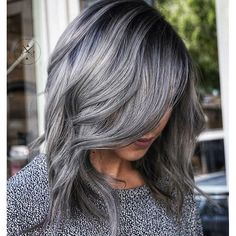 Ash is the new and now. Color by @jeffreyrobert_  #hair #hairenvy #haircolor #silverhair #grayhair #ash #newandnow #inspiration #maneinterest