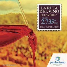 Disfrutemos juntos de un buen vino en las cavas emblemáticas de Suramérica, un plan que no te vas a querer perder. Más información en Cali al 668 2255 y en Bogotá 606 9779. www.panturismo.com