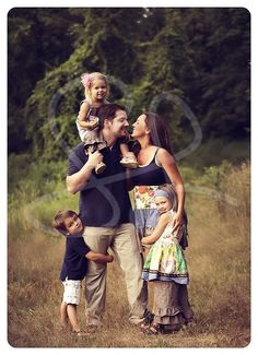 family pose family