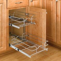Rev-A-Shelf Two-Tier Chrome Wire Baskets - Kitchen Organization ...