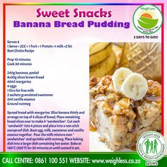 Healthy Eating Recipes, Cooking Recipes, Cooking Ideas, Pudding Recipes, Yummy Recipes, Recipies, Wartime Recipes, Homemade Banana Bread, Brown Bread