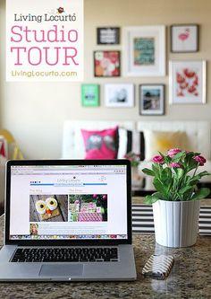 Take the Living Locurto Studio Tour! A beautiful colorful, modern work space. LivingLocurto.com